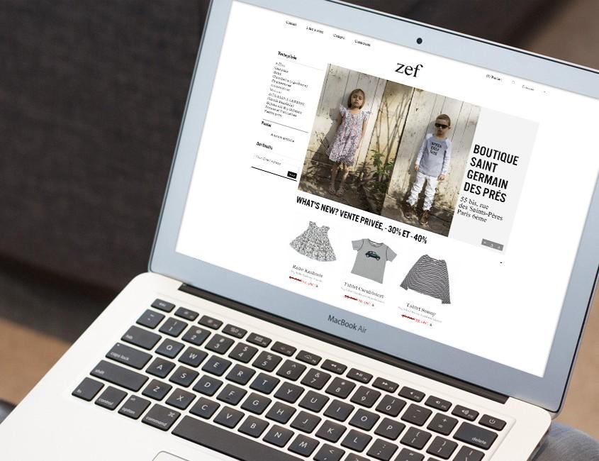 ZEF vêtements pour enfants-ecommerce responsive design