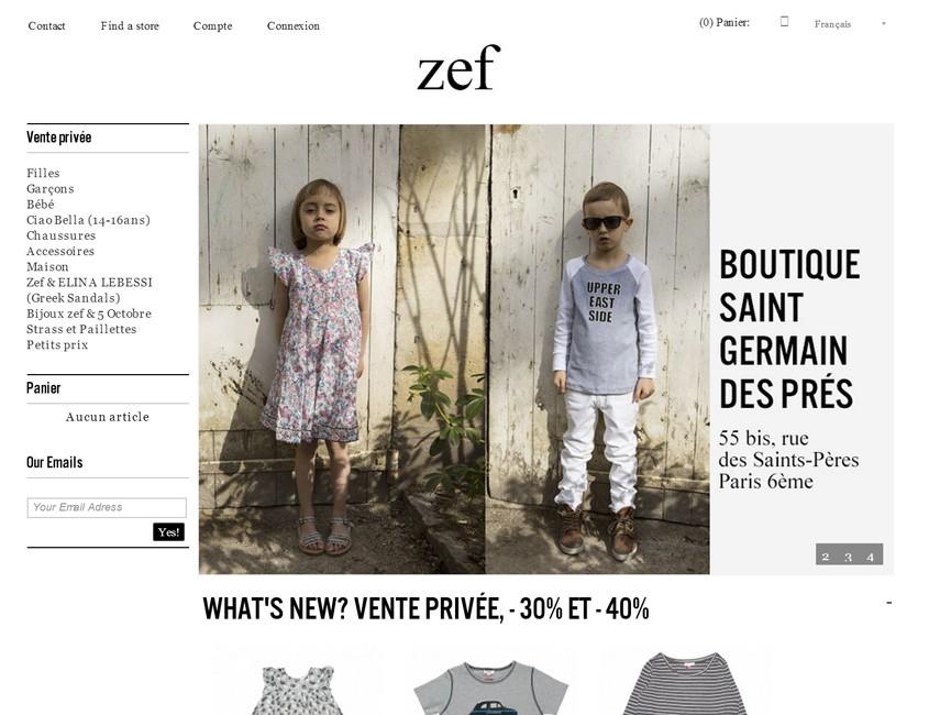 ZEF vêtements pour enfants-ecommerce